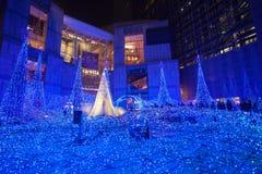 Φωτισμοί εποχής Χριστουγέννων και χειμώνα του Τόκιο σε Shiodome στοκ φωτογραφίες με δικαίωμα ελεύθερης χρήσης