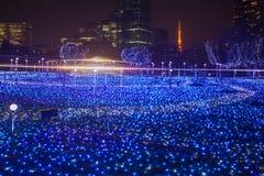 Φωτισμοί εποχής Χριστουγέννων και χειμώνα του Τόκιο στοκ φωτογραφία με δικαίωμα ελεύθερης χρήσης