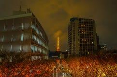 Φωτισμοί πύργων και Χριστουγέννων του Τόκιο σε Roppongi Τόκιο, Ιαπωνία στοκ φωτογραφίες