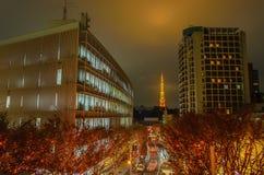 Φωτισμοί πύργων και Χριστουγέννων του Τόκιο σε Roppongi Τόκιο, Japa στοκ φωτογραφία με δικαίωμα ελεύθερης χρήσης
