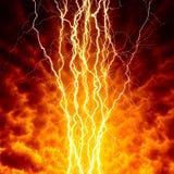 Φωτισμοί στον ουρανό στοκ εικόνες