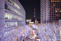 Φωτισμοί του Τόκιο του φωτός Χριστουγέννων στοκ φωτογραφίες