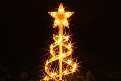 Φωτισμοί Χριστουγέννων στην Αμερική στοκ εικόνα με δικαίωμα ελεύθερης χρήσης
