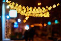Φωτισμοί Χριστουγέννων στην πόλη στοκ φωτογραφία