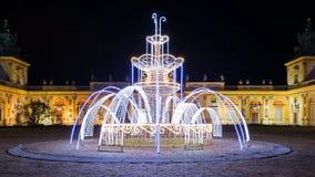 Φωτισμοί Χριστουγέννων στο πάρκο σε Wilanow στοκ φωτογραφίες
