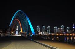Φωτισμός γεφυρών EXPO Daejeon Στοκ εικόνα με δικαίωμα ελεύθερης χρήσης