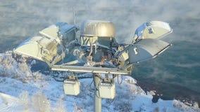 Φωτισμός ιστών Άποψη Aero Άποψη Copter απόθεμα βίντεο