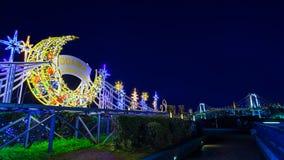 Φωτισμός και φωτισμοί που προετοιμάζονται για τα ερχόμενα Χριστούγεννα στην περιοχή Odaiba στοκ εικόνες