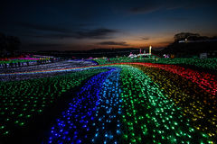 Φωτισμός στο γερμανικό χωριό του Τόκιο Στοκ εικόνες με δικαίωμα ελεύθερης χρήσης