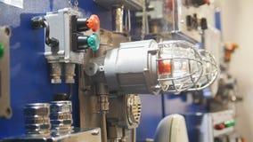 Φωτισμός συναγερμών πινάκων ελέγχου και πυρκαγιάς ανιχνευτών διαρροών αερίου Στοκ Εικόνες