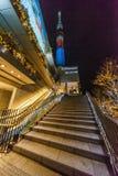 Φωτισμός Τόκιο άποψης νύχτας της Ιαπωνίας στοκ εικόνες