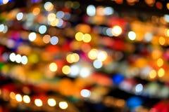 Φωτισμός υποβάθρου Bokeh τη νύχτα Στοκ Εικόνες