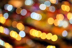 Φωτισμός υποβάθρου Bokeh τη νύχτα Στοκ Φωτογραφία