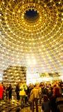 Φωτισμός EXPO 2015 θόλων βρετανικών περίπτερων Στοκ εικόνα με δικαίωμα ελεύθερης χρήσης