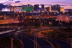 Φωτισμός Vegas Στοκ φωτογραφίες με δικαίωμα ελεύθερης χρήσης