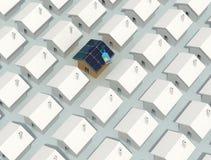 φωτοβολταϊκός μοναδικός σπιτιών ελεύθερη απεικόνιση δικαιώματος