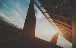 Φωτοβολταϊκή επιτροπή υψηλής τεχνολογίας Στοκ Φωτογραφία