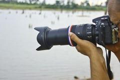 Φωτογράφοι φύσης. Στοκ Φωτογραφία