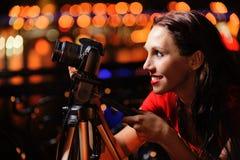 φωτογράφος κοριτσιών φωτ Στοκ φωτογραφίες με δικαίωμα ελεύθερης χρήσης