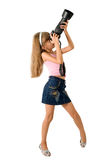φωτογράφος κοριτσιών Στοκ φωτογραφία με δικαίωμα ελεύθερης χρήσης
