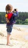 φωτογράφος κοριτσιών Στοκ Φωτογραφίες