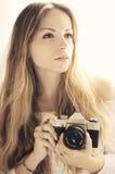 Φωτογράφος κοριτσιών Στοκ Εικόνες