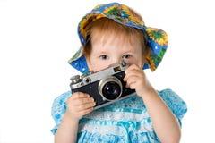 φωτογράφος ομορφιάς μωρών Στοκ φωτογραφία με δικαίωμα ελεύθερης χρήσης