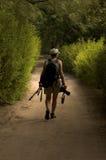 φωτογράφος πουλιών Στοκ Εικόνες