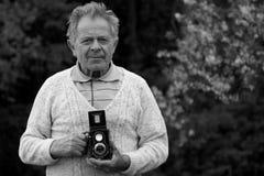 φωτογράφος που αποσύρεται Στοκ φωτογραφία με δικαίωμα ελεύθερης χρήσης