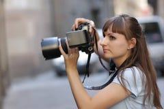 φωτογράφος πόλεων Στοκ Εικόνες