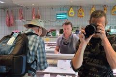 Φωτογράφος στην εργασία για το dreamstime Στοκ Φωτογραφίες