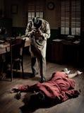 Φωτογράφος στη σκηνή εγκλήματος στοκ εικόνες
