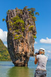 Φωτογράφος ταξιδιού της Ταϊλάνδης Στοκ Εικόνα