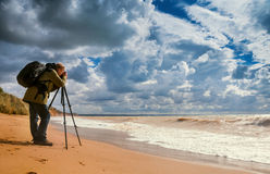 Φωτογράφος τοπίων Στοκ φωτογραφίες με δικαίωμα ελεύθερης χρήσης