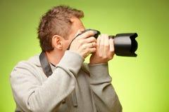 φωτογράφος φωτογραφικών μηχανών Στοκ Εικόνες