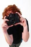 φωτογράφος redhead Στοκ Εικόνα