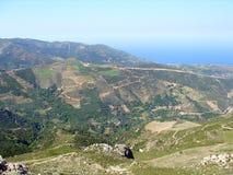 Φωτογραφία αέρα, Falasarna, Chania, Κρήτη, Ελλάδα στοκ φωτογραφίες με δικαίωμα ελεύθερης χρήσης
