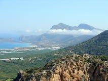 Φωτογραφία αέρα, Falasarna, Chania, Κρήτη, Ελλάδα στοκ εικόνες με δικαίωμα ελεύθερης χρήσης