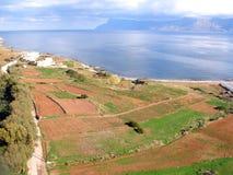 Φωτογραφία αέρα, Kissamos, Chania, Κρήτη, Ελλάδα στοκ εικόνα με δικαίωμα ελεύθερης χρήσης