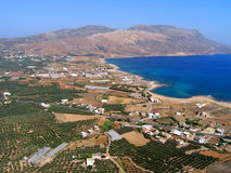 Φωτογραφία αέρα, Kissamos, Chania, Κρήτη, Ελλάδα στοκ εικόνες
