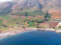 Φωτογραφία αέρα, Kissamos, Chania, Κρήτη, Ελλάδα στοκ εικόνα