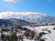 Φωτογραφία αέρα, Omalos, Lefka Ori, Chania, Κρήτη, Ελλάδα στοκ φωτογραφία με δικαίωμα ελεύθερης χρήσης