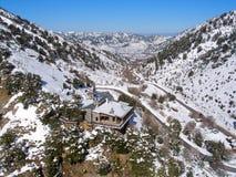 Φωτογραφία αέρα, Omalos, Lefka Ori, Chania, Κρήτη, Ελλάδα στοκ εικόνα