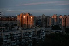 Φωτογραφία αποθεμάτων - απεικονίστε την κατοικημένη ζώνη διαμερισμάτων ανατολής σε Άγιο Πετρούπολη στοκ φωτογραφίες με δικαίωμα ελεύθερης χρήσης