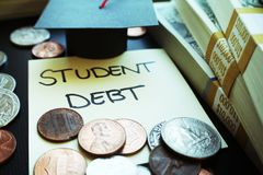 Φωτογραφία αποθεμάτων χρέους δανείου σπουδαστών στοκ φωτογραφία με δικαίωμα ελεύθερης χρήσης