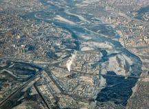Φωτογραφία από το αεροπλάνο Στοκ φωτογραφίες με δικαίωμα ελεύθερης χρήσης