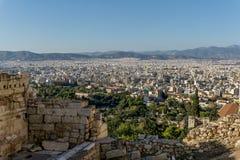 Φωτογραφία από το διάσημο λόφο Lycabettus στο κέντρο της Αθήνας Στοκ φωτογραφία με δικαίωμα ελεύθερης χρήσης