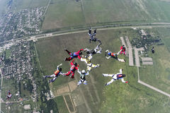 Φωτογραφία ελεύθερων πτώσεων με αλεξίπτωτο. Στοκ φωτογραφία με δικαίωμα ελεύθερης χρήσης