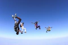Φωτογραφία ελεύθερων πτώσεων με αλεξίπτωτο. Στοκ Φωτογραφίες