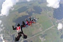 Φωτογραφία ελεύθερων πτώσεων με αλεξίπτωτο. Στοκ φωτογραφίες με δικαίωμα ελεύθερης χρήσης